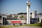 Der Schindler-Turm in Ebikon. (Bild: Pius Amrein / Neue LZ)