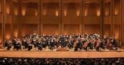 Das Luzerner Sinfonieorchester im grossen Konzertsaal von Bogotá. (Bilder: LSO und Simon Bordier)