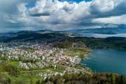 Blick auf die Gemeinde Horw. (Bild: Philipp Schmidli (Horw, 18. April 2017))