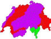 """Die Warnungskarte von MeteoNews verheisst nichts Gutes: Die Zentralschweiz hat für den 3. Januar eine Orkan-Warnung (violett). Die rot markierten Gebiete erwartet ein """"schwerer Sturm"""". (Bild: www.meteonews.ch)"""