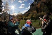 Der Föhn sorgte beim 146. Rütlischiessen für herrlichen Sonnenschein. (Bild Urs Hanhart/Neue UZ)