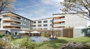 So soll das Pflegeheim Luegeten in Menzingen in Zukunft aussehen. Visualisierung: PD
