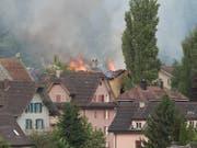 Brand eines Wohnhauses in Reussbühl. (Bild: Leserbild Theres Nussbaumer)