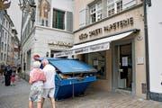 Die Büro Spaeti Papeterie am Hirschenplatz 10 in der Luzerner Altstadt wird leer geräumt. (Bild Corinne Glanzmann)