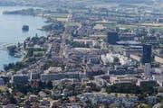 Blick auf die Stadt Zug. (Bild: Stefan kaiser/Neue ZZ)