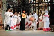 Letzte Woche fand in der Franziskanerkirche Luzern erstmals ein Gottestdienst der katholischen Kirchgemeinde und einer eritreisch-orthodoxen Exilgemeinde statt. (Bild Dominique Huwyler)