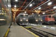 Blick ins Depot von SBB Historic in Erstfeld. (Bild: Stiftung Historisches Erbe der SBB)