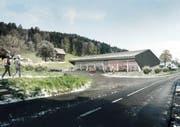 So soll der neue Ökihof in Udligenswil dereinst aussehen. (Bild: Visualisierung PD)