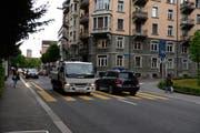 Der Vorfall ereignete sich auf der Zürichstrasse, Einfahrt Wesemlinstrasse. (Bild: Nadia Schärli)