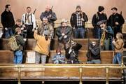 Waffenbesitzer am Regierungssitz in Olympia (US-Bundesstaat Washington): Sie protestierten Anfang Jahr gegen Background-Checks durch das FBI. (Bild: Jordan Stead/Keystone)