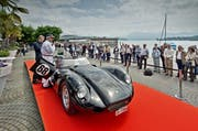 Ein Lister Jaguar, 6 Zylinder, 3781 ccm von Christian Jenny, fotografiert an der Swiss Classic World am 16. Mai 2016 am Nationalquai in Luzern. (Bild Pius Amrein)