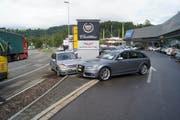 Die Unfallstelle in Sihlbrugg (Gemeinde Neuheim). (Bild: Zuger Polizei)