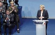 Marine Le Pen während ihrer Rede am Parteikongress des Front National. (Bild: Sylvain Lefevre/Getty (Lille, 11. März 2018))