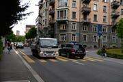 Der Vorfall ereignete sich auf der Zürichstrasse, Einfahrt Wesemlinstrasse. (Bild Nadia Schärli / Neue LZ)