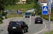 Die Aegeristrasse in Zug. (Bild Martin Heimann/Neue ZZ)