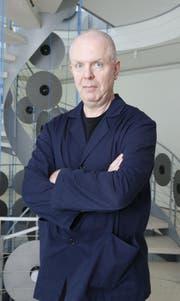 Composer in residence und Schlagzeuger Fritz Hauser. (Bild: Stefan Kaiser (6. Juni 2013, Zug))
