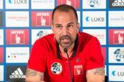 «Das Spitzenspiel kommt für uns etwas früh», sagte der Luzerner Trainer Markus Babbel. (Bild: Keystone / Urs Flüeler)
