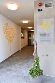 Eingangsbereich des Alters- und Pflegeheim Heimet in Ennetbürgen. (Bild: PD)