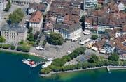 Die Stadt Zug aus der Vogelperspektive. (Bild: Stefan Kaiser)