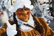 Mit einer solchen Maskierung zeigt sich Yvonne Schärli. (Bild: Richard Schacher)