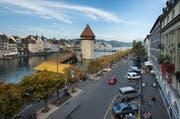 Blick auf die Bahnhofstrasse in der Stadt Luzern. (Archivbild Dominik Wunderli)