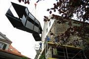 Der Hexenturm in Sarnen bekommt eine neue Aussentreppe. (Bild Corinne Glanzmann/Neue LZ)