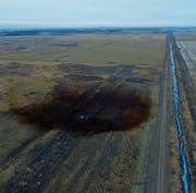 In Marshall County traten vergangene Woche 800 000 Liter Rohöl aus. (Bild: Keystone (17. November 2017))