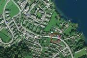Der Unfall ereignete sich unmittelbar bei der Bushaltestelle Stutz in Horw. (Bild: map.search.ch)