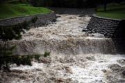 Der Schächen in Uri wird Hochwassersicher gebaut. (Bild: Urs Hanhart / Neue UZ)