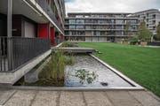 Für diese Überbauung in der Tribschenstadt hat die Wohnbaugenossenschaft ABL städtisches Land im Baurecht erhalten. (Bild: Nadia Schärli (Luzern, 12. September 2017))