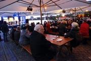 Landammannfeier auf dem Landsgemeindeplatz vom 20. Dezember in Zug. (Bild: Werner Schelbert / Neue ZZ)