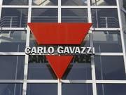Das Logo der Firma Carlo Gavazzi in Steinhausen im Kanton Zug. (Bild: KEYSTONE/URS FLUEELER)