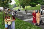 Die Seepromenade in Meggen soll aufgewertet werden. (Bild: PD)
