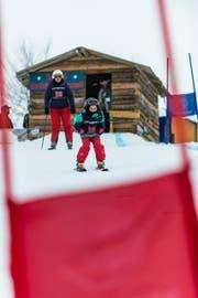 Heidi Hasler mit Jil aus Mauensee beim Start. (Bild: Roger Grütter / Neue LZ)