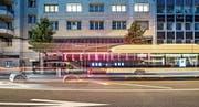 Seit 50 Jahren bildet das Kleintheater Luzern eine markante Fassade am Bundesplatz. Noch herrscht die Ruhe vor dem Sturm. Aber schon heute Abend geht's los mit der neuen Saison. (Bild: Pius Amrein (8. September 2017))