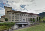 Das Kraftwerk Wägital in Siebnen. (Bild: Google Maps)