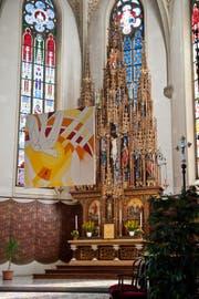 Die Kirche Escholzmatt, ein Zuhause für barocke Figuren. (Bild Boris Bürgisser)