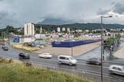 Am Seetalplatz: Hier soll das kantonale Verwaltungsgebäude mit rund 1100 Arbeitsplätzen entstehen. (Bild: Pius Amrein (Emmenbrücke, 29. Juni 2017))