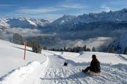 Die Schlittler erobern Lungern-Schönbüel: Seit dieser Saison laufen die Skilifte nicht mehr. (Bild: Christoph Riebli / Neue OZ)