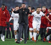 Erfolgreich: Milan-Trainer Gennaro Gattuso. (Bild: Angelo Carconi/EPA (Rom, 28. Februar 2018))