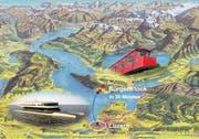 Insgesamt 20 Millionen Franken werden in die neue Schiffsverbindung Luzern-Kehrsiten und die Sanierung der Bürgenstockbahn investiert. (Bild: Grafik: PD)