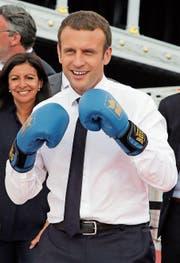 Der französische Präsident Emmanuel Macron. (Bild: Jean-Paul Pelissier/EPA (Paris, 24. Juni 2017))