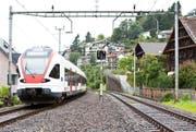 Doppelspur beim Bahnhof Walchwil. (Archivbild / Patrick Hürlimann (Walchwil))
