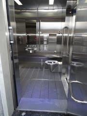 So sieht das neue Bahnhofs-WC aus. (Bild: SBB)