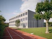 So sieht das Gebäude aus, in dem sich die neuen Klassenzimmer der Kantonsschule Zug befinden. (Bild: Karin Gauch / Fabien Schwartz)