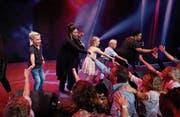 Auch die Kleinen hatten etwas vom Anlass, sie durften auf der Bühne mitmachen. (Bild: Stefan Kaiser (Baar, 28. Oktober 2017))