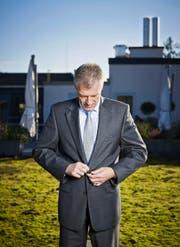 Heinz Karrer (57), Präsident Economiesuisse.Bild: René Ruis/Keystone (Zürich, 23. Dezember 2013)