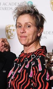 Frances McDormand ist für uns die Favoritin für die beste Hauptdarstellerin. (Bild: Andy Rain/EPA)