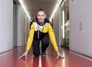 Startbereit für die neue Freiluftsaison: Géraldine Ruckstuhl. (Bild: Manuela Jans-Koch (Magglingen, 1. Februar 2018))