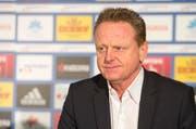 Rolf Fringer am Dienstag bei der Vorstellung als neuer Sportchef des FC Luzern. (Bild: Keystone)